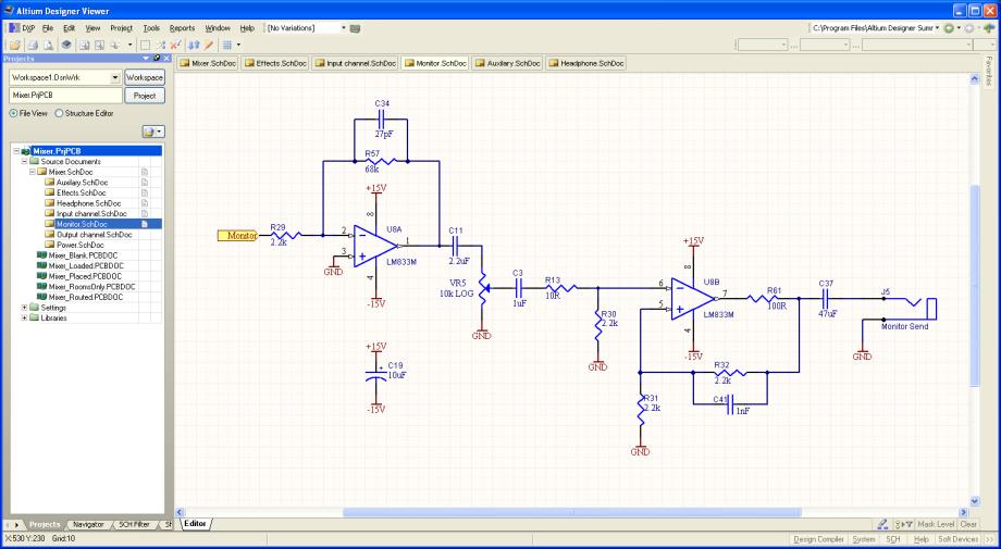 altium designer viewer  viewing schematic documents  online, schematic