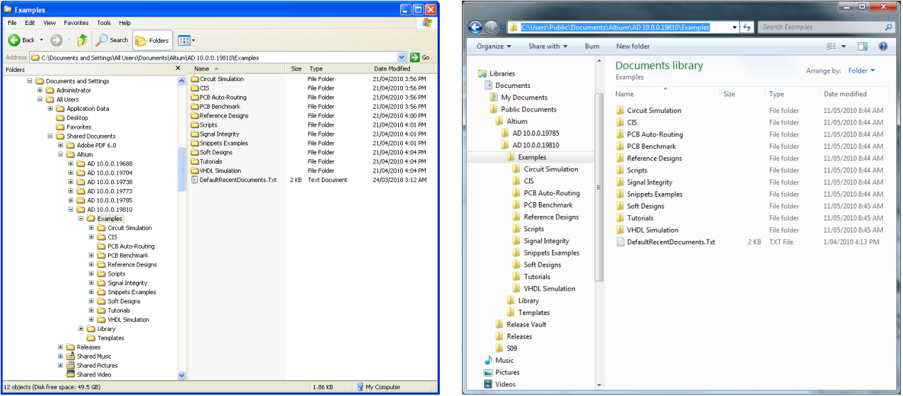 support for running altium designer on windows 7 online With windows 7 folder documents and settings