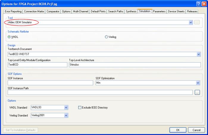 Integrated Aldec OEM Simulator | Online Documentation for Altium