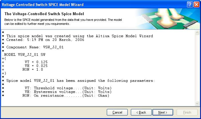 SPICE Model Creation from User Data | Online Documentation for
