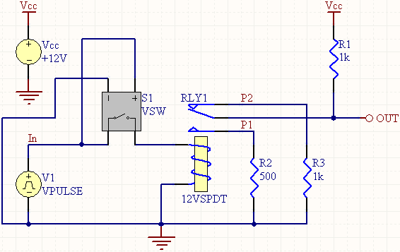 VSW - Voltage Controlled Switch Model | Online Documentation