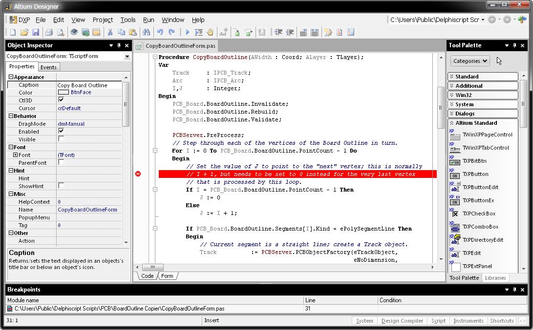 scripting online documentation for altium products