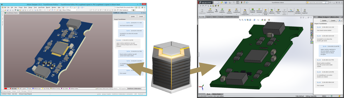 Collaborating between Altium Designer and SOLIDWORKS | Online