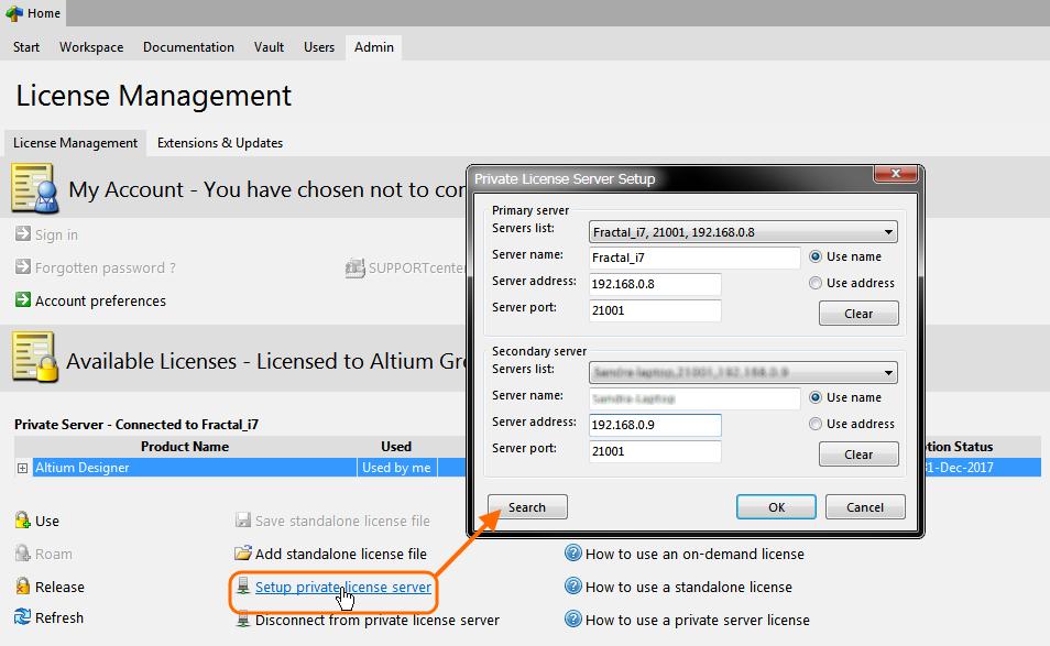 Adding a Secondary (Redundant) Private License Server