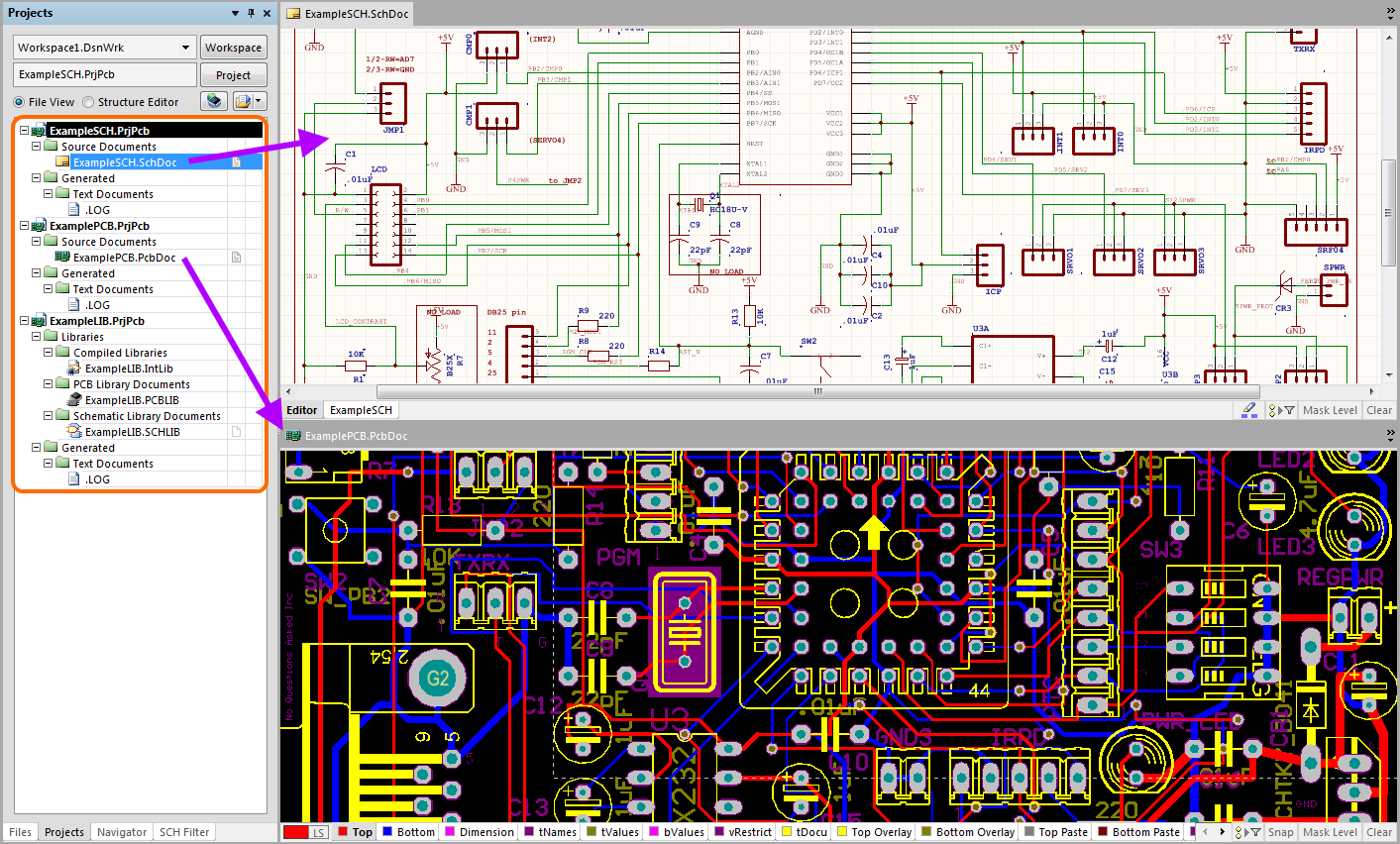 Cadsoft Eagle Importer Online Documentation For Altium Products Cad Controller Schematic Display