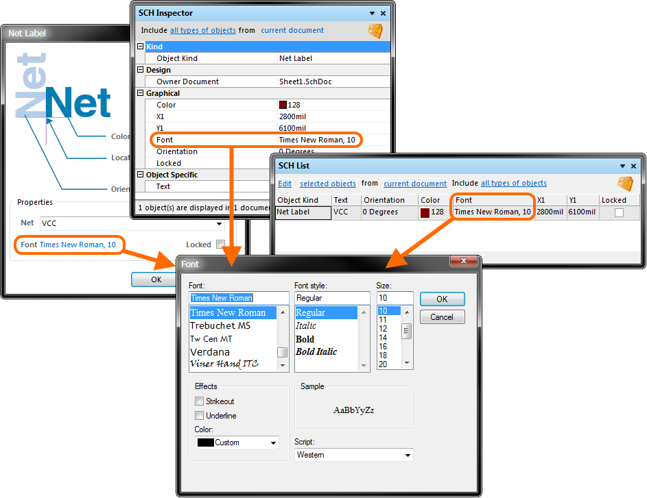 Font Editing for Schematic Design Objects | Online Documentation for ...