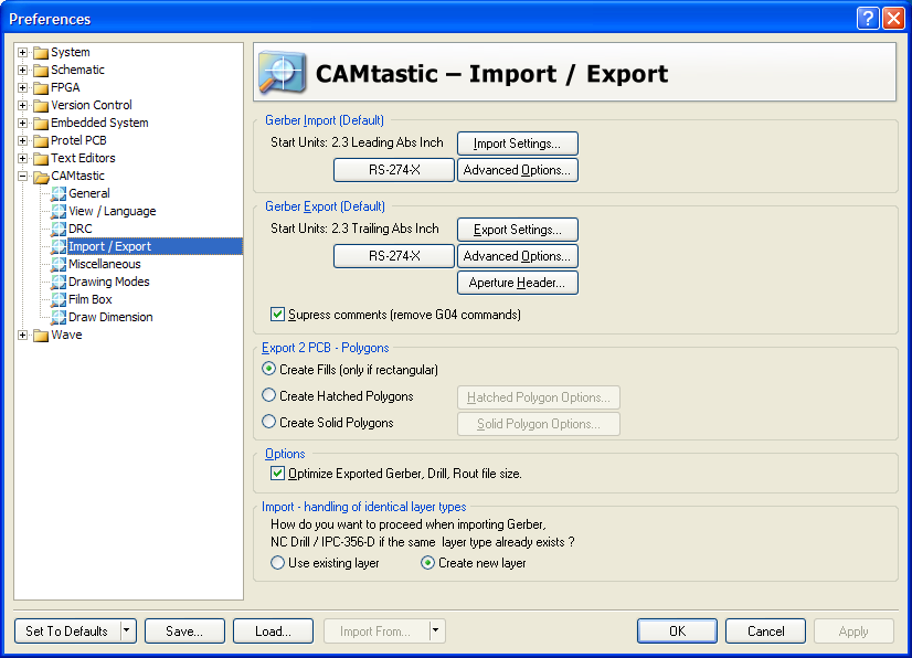 CAM Editor Imports and Exports | Online Documentation for